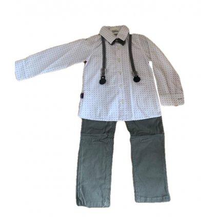 Chlapčenský oblek vzor (Farba Šedá, Veľkosť 116)