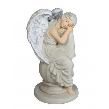 Anjel žena na guli (Farba Svetlošedá, Veľkosť 34cm)
