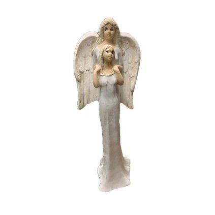 Anjel mama s dcérou (Farba Biela, Veľkosť 25cm)