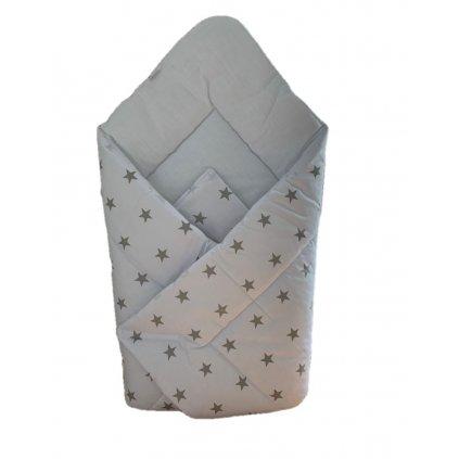 Detská zavinovačka hviezdy (Farba Biela, Veľkosť 75x75cm)