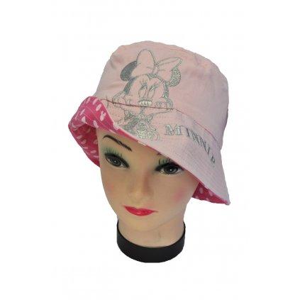 Detský obojstranný klobúk MINNIE (Farba Biela, Veľkosť 52)