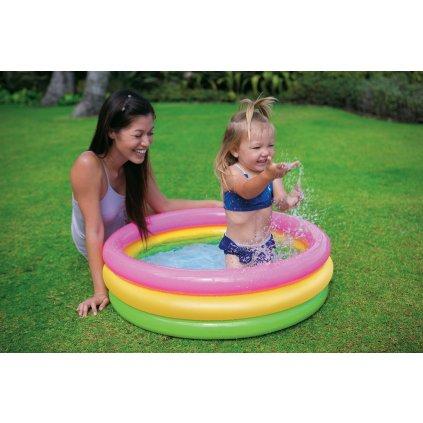 Dúhový BABY bazén 86*25cm (Farba Multifarebné, Veľkosť 86x25cm)