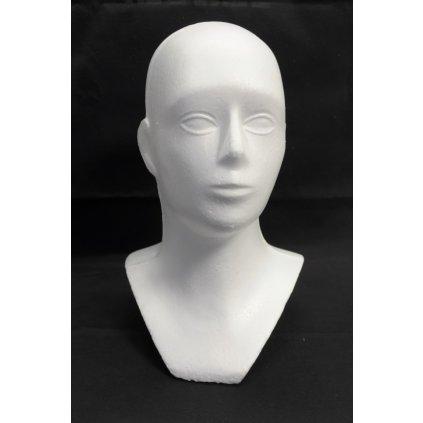 Hlava polystyrén -žena (Farba Biela, Veľkosť 50cm)