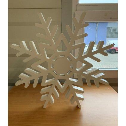 Vianočná dekorácia vločka 55*55cm (Farba Biela, Veľkosť 1797 - 55*55CM)