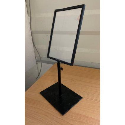 Kovový stojan na cenovky 21*15cm (Farba Čierna, Veľkosť 1801 - 21*15CM)