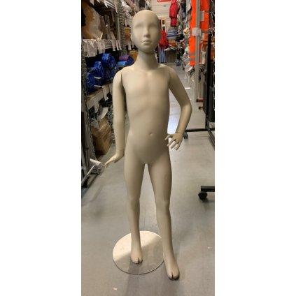 Detská figurína s podstavcom - ľavá ruka v bok (Farba Svetlohnedá, Veľkosť 125CM)
