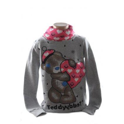 Detský pulover - 3D Teddy štrikovaný maco