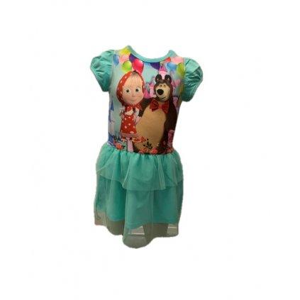 Dievčenské šaty - Máša a medveď