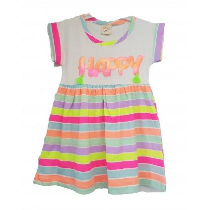 Dievčenské šaty Happy