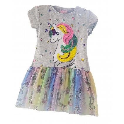 Dievčenské šaty jednorožec