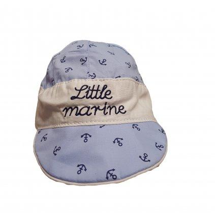 Kojenecká čiapka so šiltom little marine