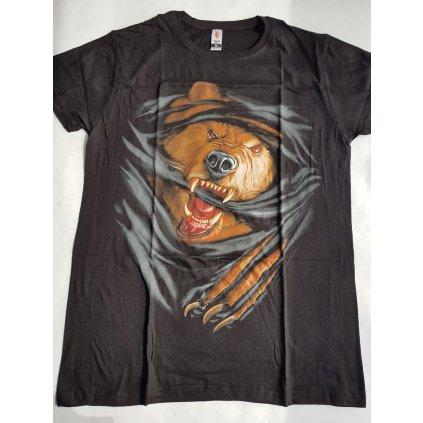 Čierne pánske tričko Y AM A BEAST