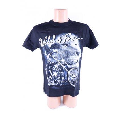 Pánske metalové tričko Wild&free motorka