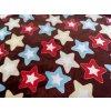 Deka hviezdy 150x200cm, PoloTrade (Farba Tmavohnedá, Veľkosť 200x150cm)