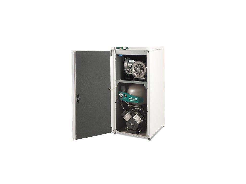 Dentalny kompresor s odsavackou DUO 2 bademico
