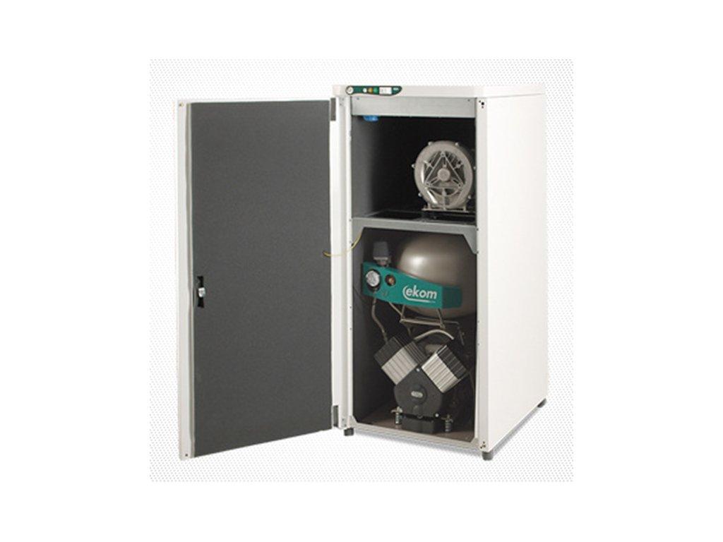 Dentalny kompresor s odsavackou DUO 2V bademico