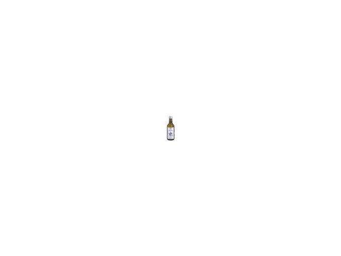 Čerstvý panenský ľanový olej