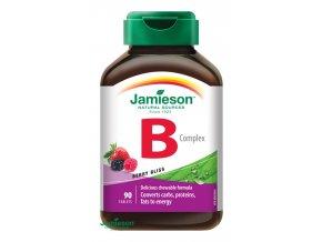 B-komplex 25 mg tablety na cmúľanie s príchuťou lesných plodov