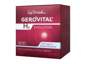 Hydratačný denný Lift krém SPF 10 Gerovital H3 Evolution