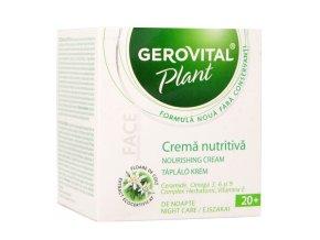 Vyživovací nočný krém Gerovital Plant