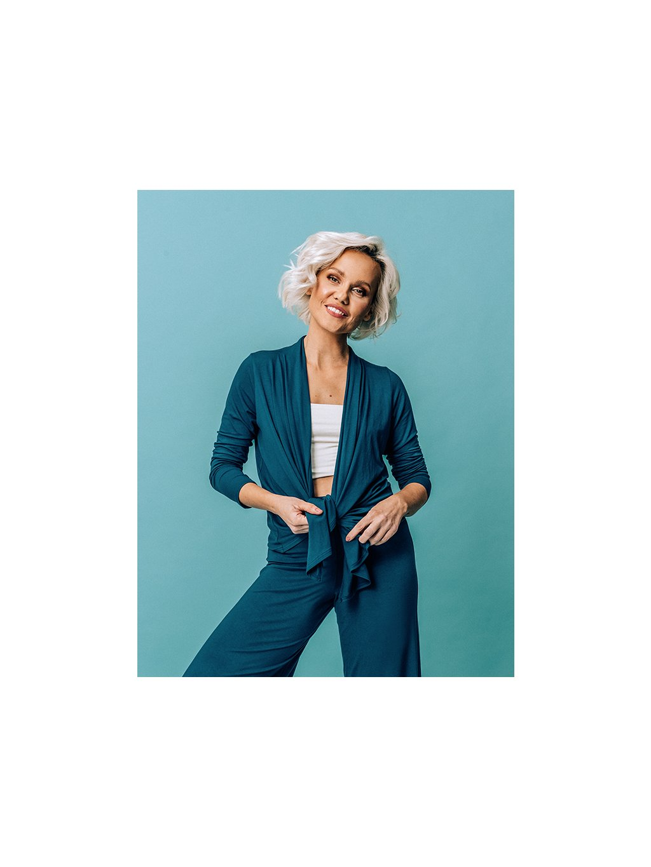 by janatini lounge cardigan blue 1