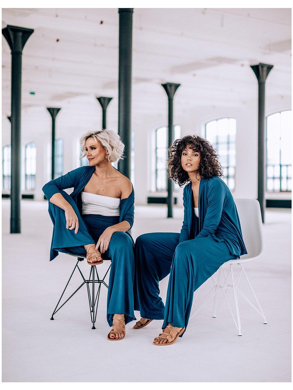 by janatini loungewear set pants blue 1