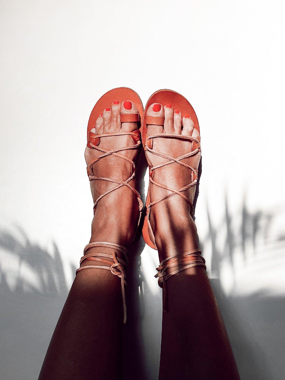 janatini greek sandals santorini collection natural