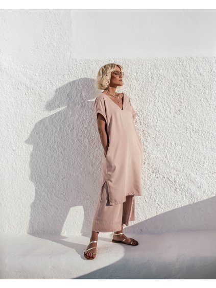 by janatini tencel dress sandy powder pink 1