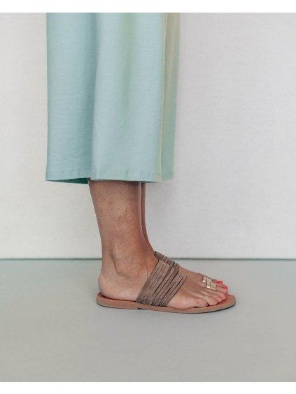 by janatini sandale brown metalic