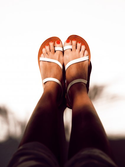 janatini greek sandals santorini collection white