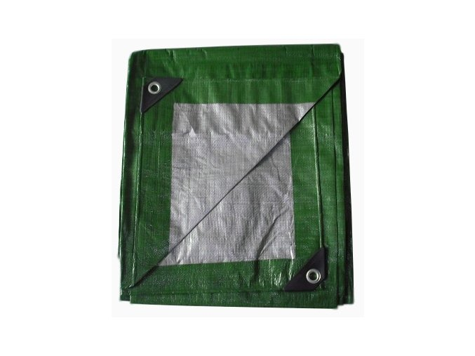 1191 krycia plachta zeleno strieborna 4x5 m 130g m2