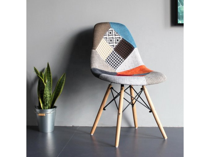 Wholesale patchwork soft fabric kitchen dining chair