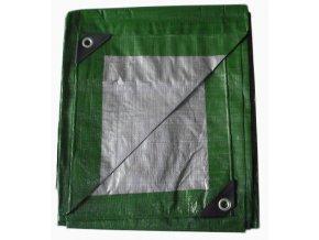 1206 krycia plachta zeleno strieborna 6x8 m 130g m2
