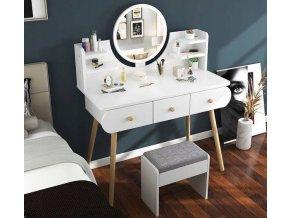 Toaletka z lustrem LED kosmetyczna SCANDI Wykonczenie mat (1)