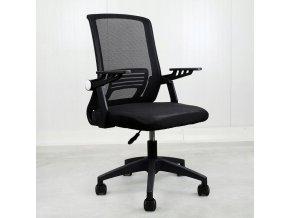 Fotel biurowy obrotowy ergonomiczny mikrosiatka Kolor obicia czarny