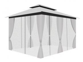 pol pl Pawilon ogrodowy z moskitiera i sciankami szary 15230 4