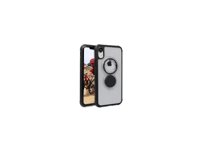 Rokform Kryt na mobil Crystal - Carbon Clear pro iPhone XR