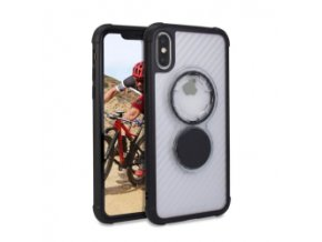 Rokform Kryt na mobil Crystal - Carbon Clear pro iPhone XS/X