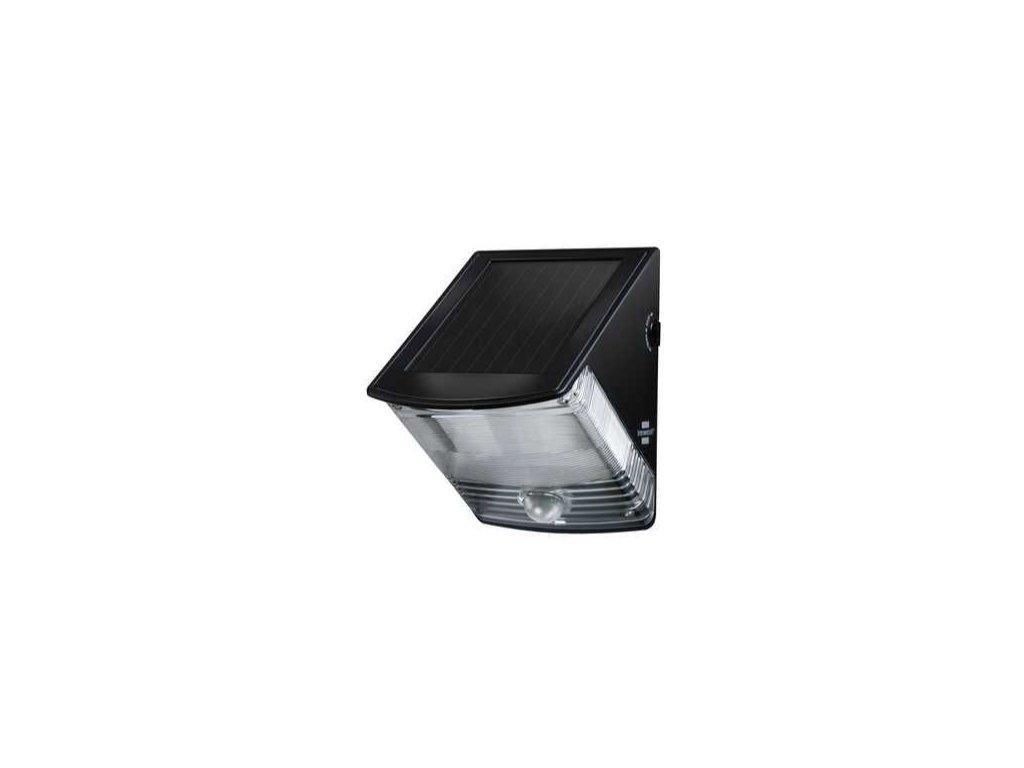 Solárne LED nástenné svetlo SOL 04 plus s pohybovým PIR detektorom 2xLED 0,5W 85lm Farba Čierna
