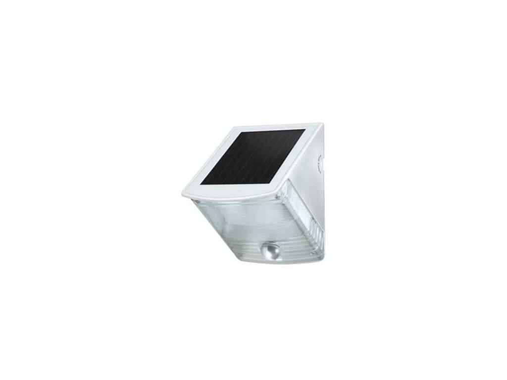 Solárne LED nástenné svetlo SOL 04 plus s pohybovým PIR detektorom 2xLED 0,5W 85lm Farba Šedobiela