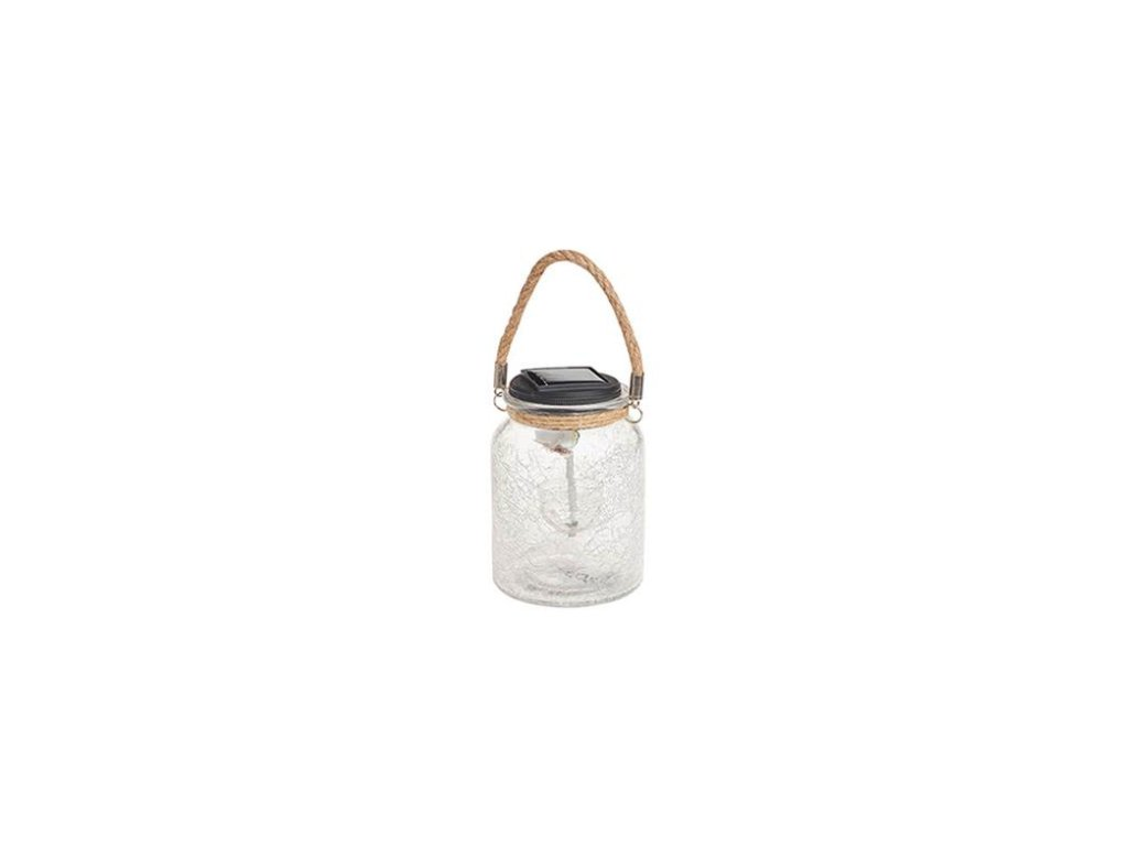 Solárna závesná lampa Cole & Bright Rainbow Twinkling Hanging Jar