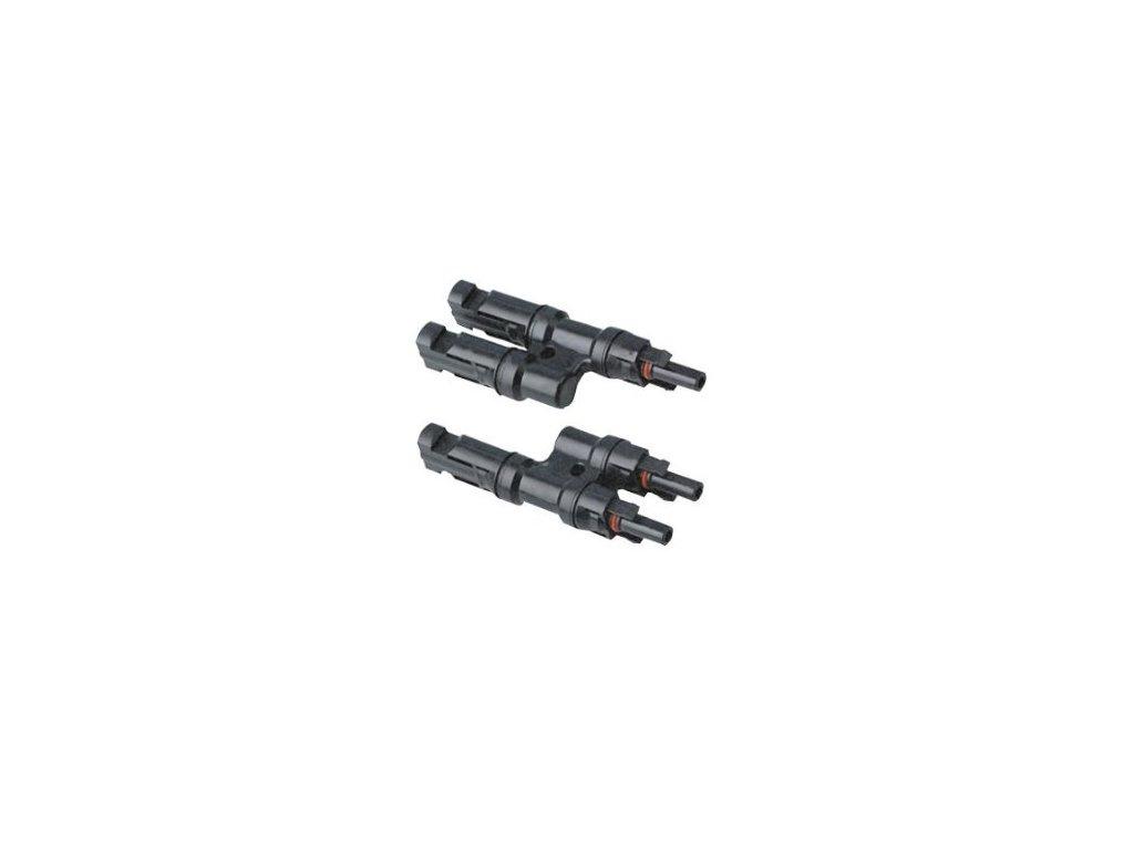 Zlučovacie konektory pre pripojenie panelu MC 4 pár