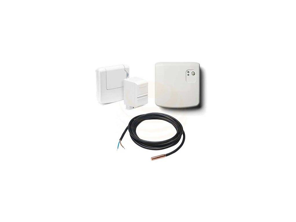 Sada evohome TV - bezdrotový snímač teploty v zásobníku (příložný + ponorný) + relóvá jednotka BDR91