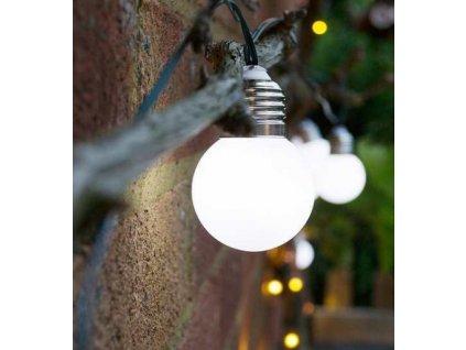 Solárna LED reťaz - 20 LED/12m studená biela