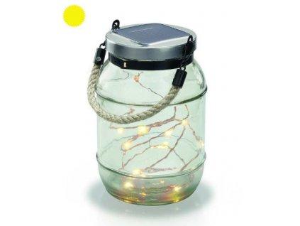 Solárna LED dekoračná závesná lampa Esotec Garland