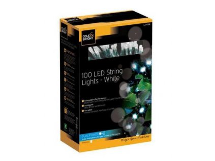 Solárna LED reťaz Cole & Bright Dual Power 100 LED - 11,9m (studená biela)