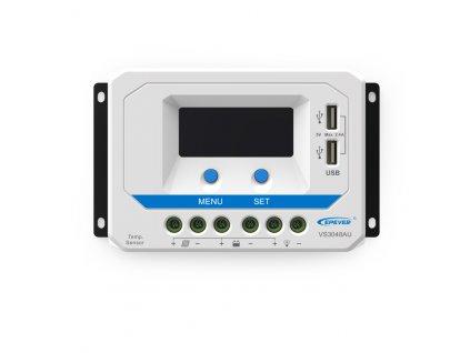PWM solárny regulátor EPsolar 10A 12/24V s LCD displejom séria VS
