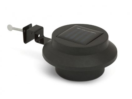 Solárna 3 LED lampa na odkvap / plot 12 x 7 cm čierna