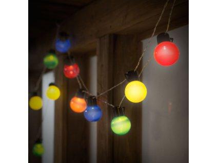 Party LED reťaz - 20 LED/6m rôznofarebná