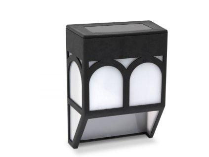 Solárna lampa na stenu - plast , čierna - 12 x 8 x 5 cm